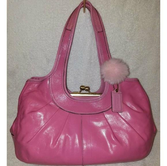 57e523f5a6 coach Handbags - Extra-large pink leather hobo handbag
